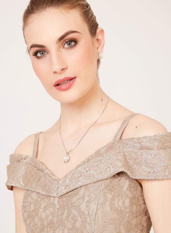 Off The Shoulder Mermaid Dress, Gold, hi-res