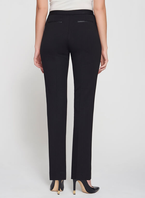 Signature Fit Ponte Straight Leg Pants, Black, hi-res