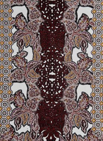 Batik Print Scarf, Multi, hi-res