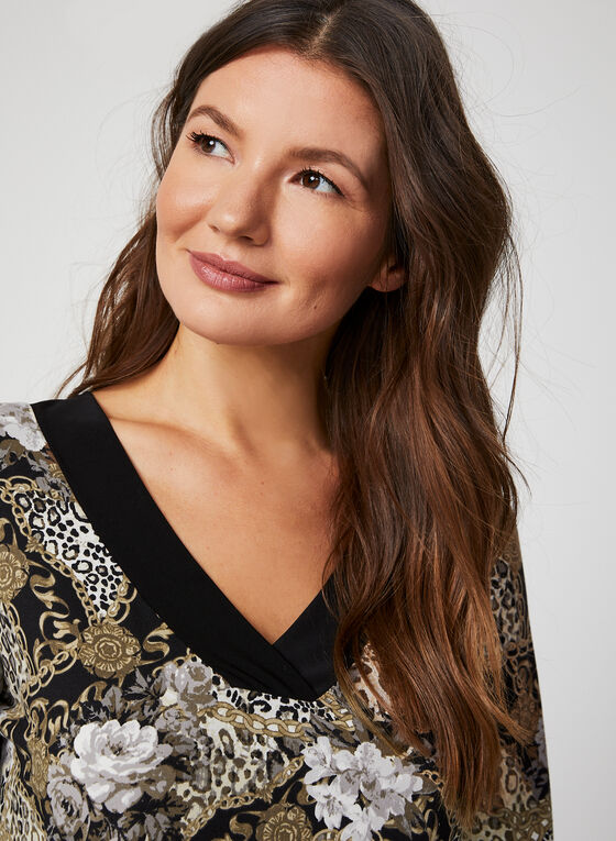 Hamilton - Flower & Chain Print Nightgown, Brown, hi-res