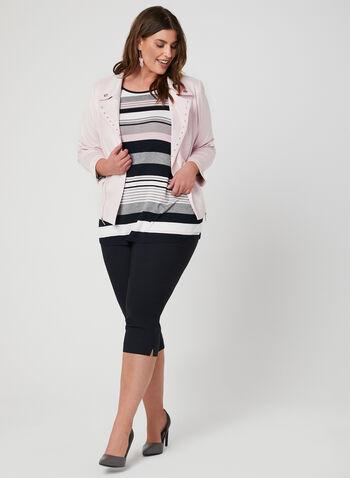 Stripe Print Jersey Top, Multi, hi-res