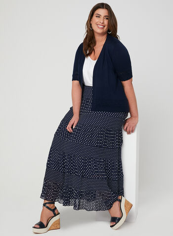 Alison Sheri - Tiered Maxi Skirt, Blue, hi-res,  pull-on, maxi skirt, spring 2019
