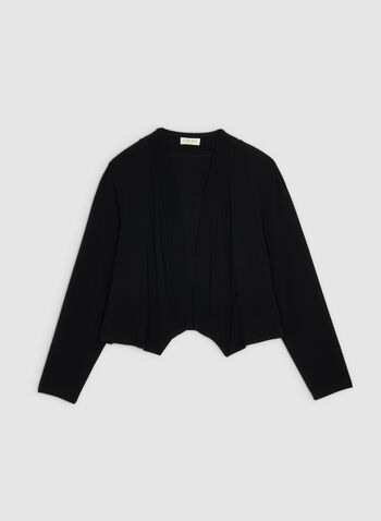 Long Sleeve Bolero, Black,  canada, bolero, long sleeves, jersey, top, open front, fall 2019, winter 2019