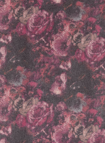 Echarpe pashmina à fleurs, Rouge, hi-res