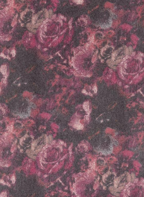 Floral Print Pashmina Scarf, Red, hi-res