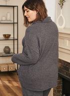 Haut en tricot avec col à cordon , Bleu