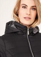 Manteau matelassé compressible avec capuchon amovible, Noir, hi-res