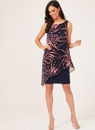 Sleeveless Chiffon Capelet Dress, Blue, hi-res
