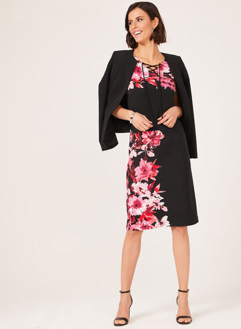 Pull-On Jersey Pencil Skirt, Black, hi-res