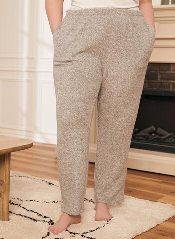 Pantalon à enfiler en tricot, Gris,  pantalon, pull-on, taille élastique, tricot, doux, jambe étroite, poches, printemps été 2021