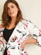 Joseph Ribkoff - Floral Print Single Button Blazer, White