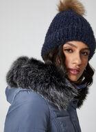 Northside - Manteau à capuchon et fausse fourrure, Bleu