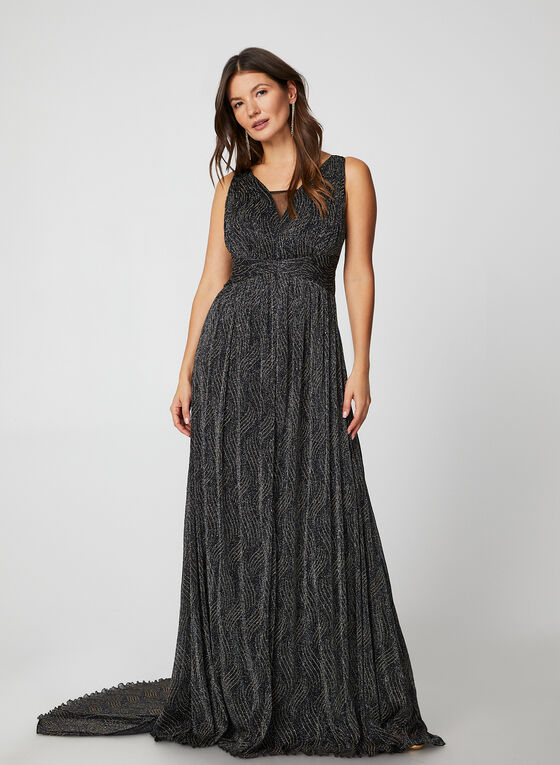 Empire Waist Dress, Grey
