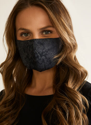 Snake Print Mask, Grey,  mask, protective, reusable, washable, snake, spring summer 2020