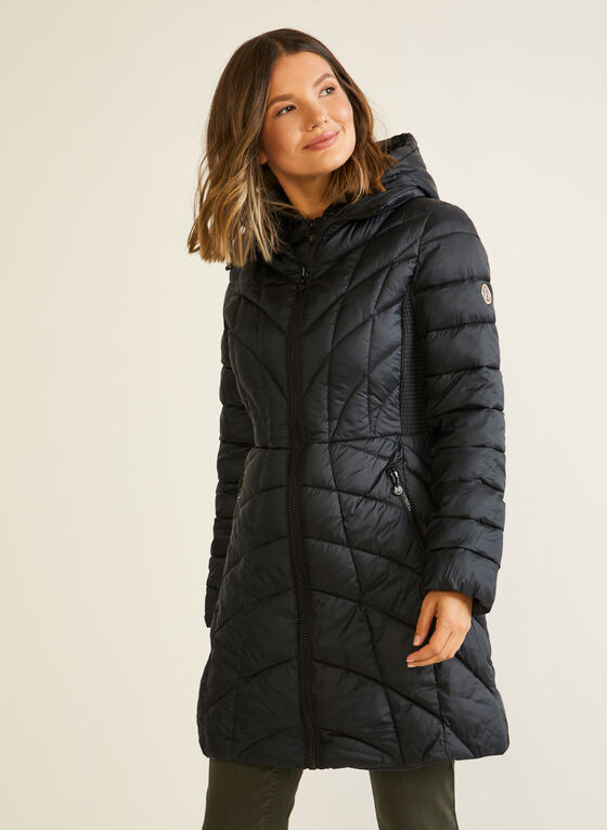 Bernardo - EcoPlume™ Mid Length Coat, Black