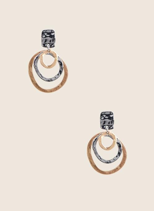 Boucles d'oreilles à anneaux multiples, Jaune