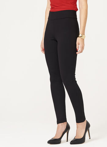 Legging pull-on en tricot , Noir, hi-res