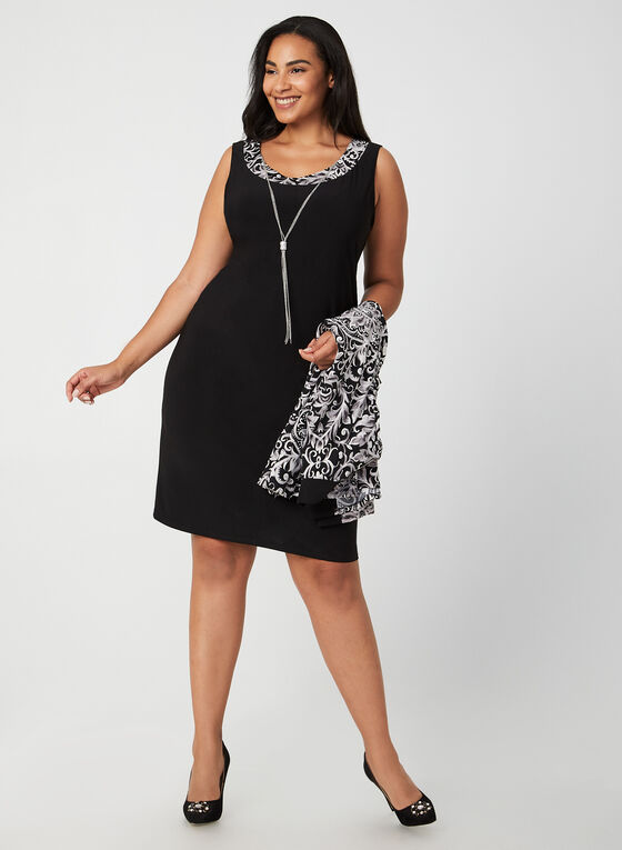 Jersey Dress With Duster, Black