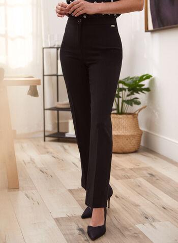 Pantalon coupe signature à jambe large, Noir,  pantalon, signature, large, pinces, automne hiver 2020
