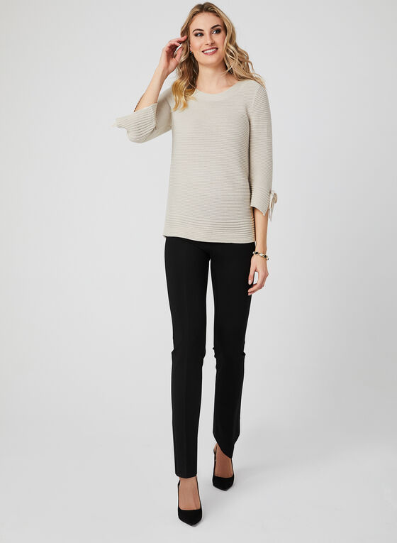 Lurex Knit Sweater, Off White, hi-res