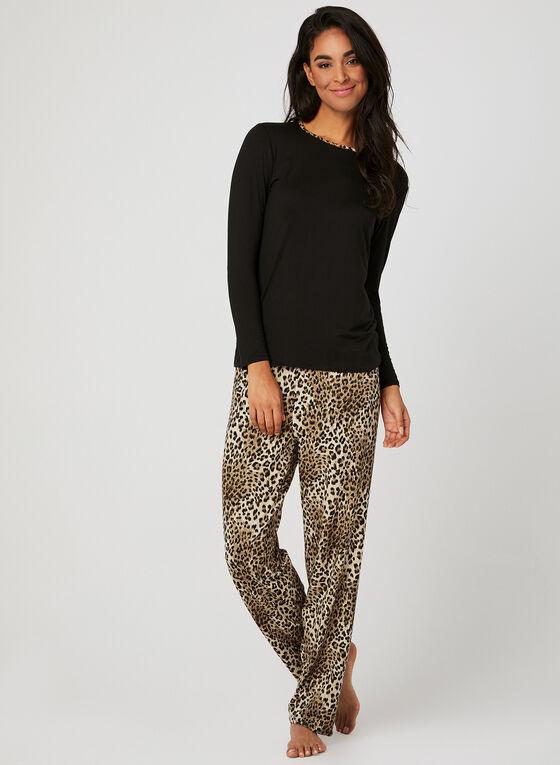 Animal Print Pyjama Set, Brown, hi-res