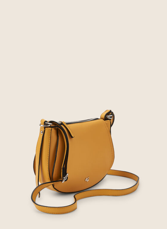 Rounded Crossbody Bag, Yellow