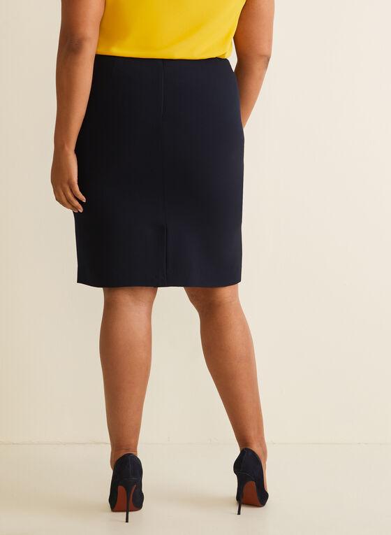 Short Straight Skirt , Blue