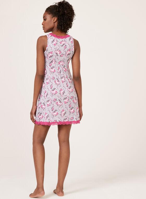 René Rofé - Floral Print Nightgown, Pink, hi-res