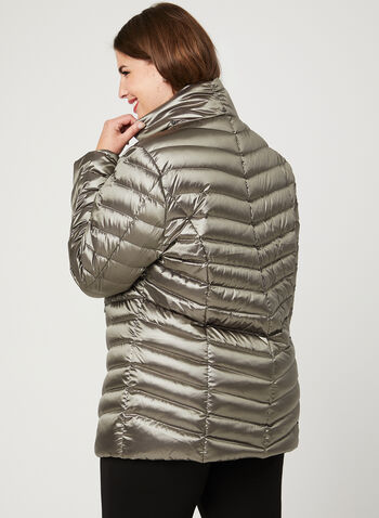 Lightweight Packable Down Coat, Silver, hi-res