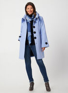 A-Line Wool-Like Coat, Blue