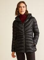 Bernardo - Chevron-Quilted Packable Coat, Black