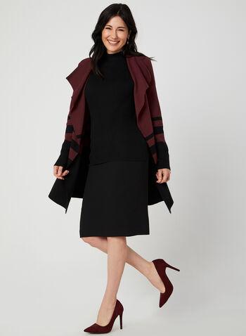 Haut sans manches en tricot, Noir, hi-res,  automne hiver 2019, côtelé, pull, chandail, débardeur