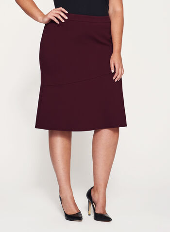 A-Line Ponte Skirt, Red, hi-res