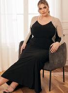 Embellished Long Sleeve Dress, Black