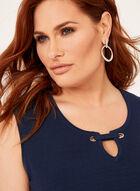 Grommet Detail Knit Camisole, Blue, hi-res