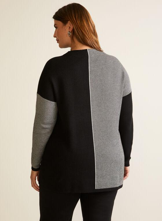 Two Tone Colour Block Sweater, Black