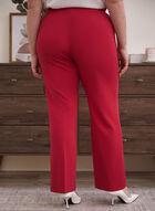 Pantalon coupe moderne à jambe large, Rose
