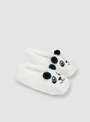 Panda Bear Slippers, White, hi-res,  sleepwear, slippers, non-slip sole, fall 2019, winter 2019
