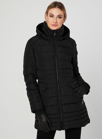 Chillax - Manteau matelassé à capuchon amovible, Noir, hi-res