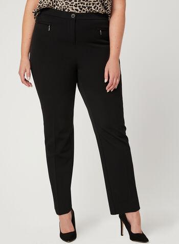 Signature Fit Straight Leg Pants, Black, hi-res,