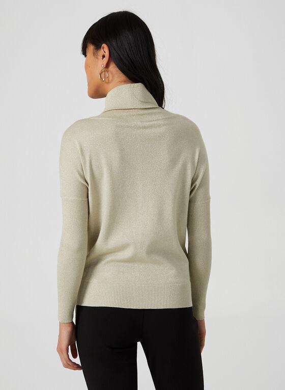 Rhinestone Embellished Metallic Sweater, Gold