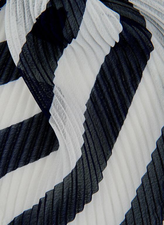 Stripe Print Scarf, Blue