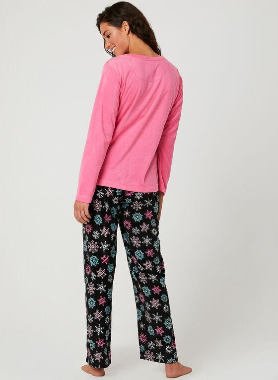 Pillow Talk - Snowflake Print Pyjama Set, Grey, hi-res