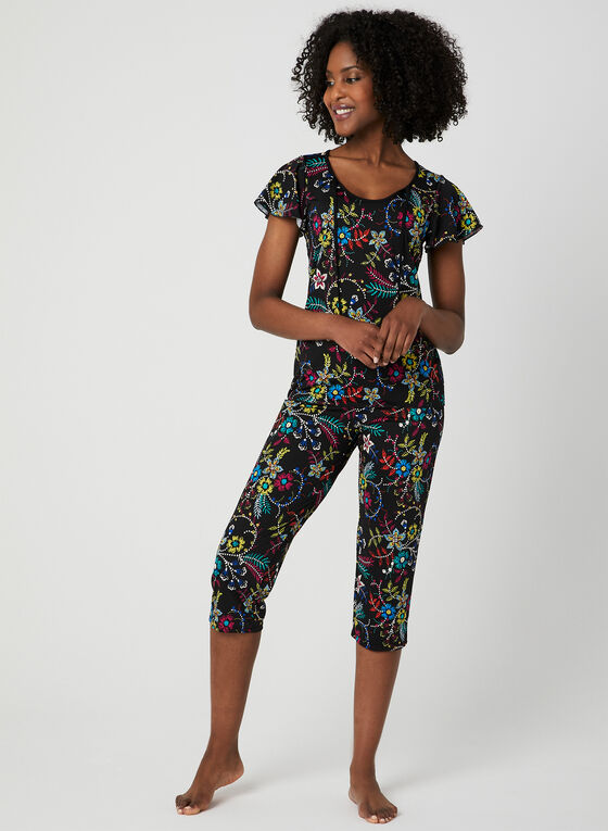 Floral Print Pyjama Set, Pink