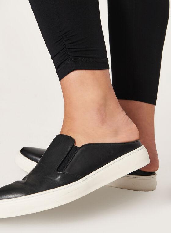 Ruched Ankle Leggings, Black, hi-res