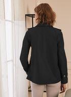 Novelti - Hooded A-line Coat, Black