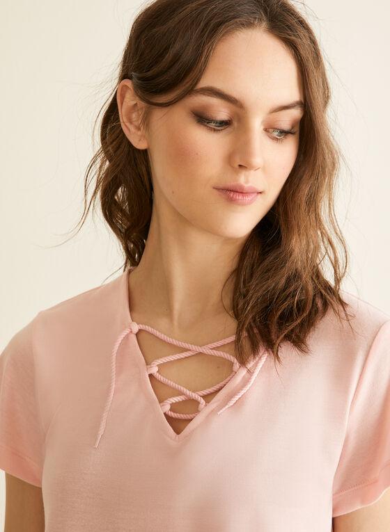 Claudel Lingerie - Pyjama à encolure lacée, Rose