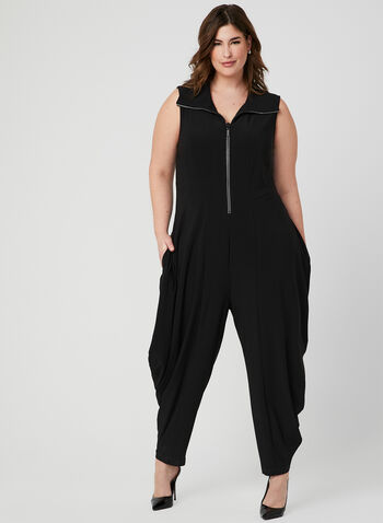 Frank Lyman - Crystal Embellished Jumpsuit, Black, hi-res