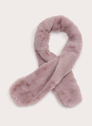 Faux Fur Neck Wrap, Pink, hi-res