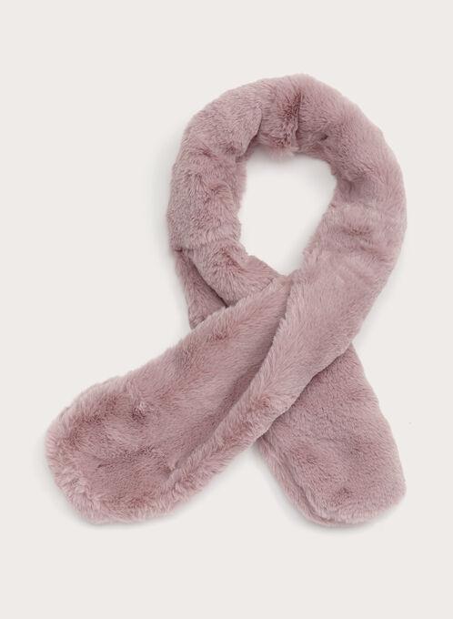 Faux Fur Neck Wrap, Pink, hi-res